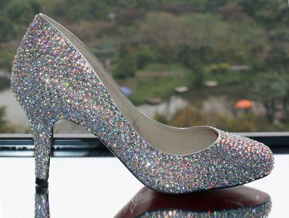 2013 Silver Glitter high heels Platforms Shining Diamante Stiletto Women Prom Party Bridal Weddding Shoes Cheap on AliExpress.com. 5% off $75.05