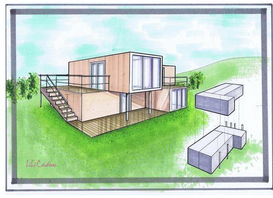 Maison conteneur recherche google maison conteneur for Maison container maritime