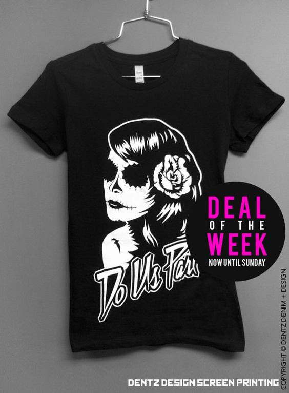 """Use coupon code """"pinterest"""" Day of the Dead - Bride Shirt - Till Death Do Us Part by DentzDesign"""