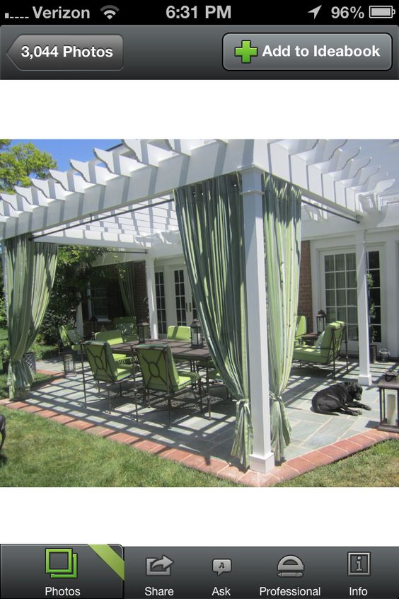 ... Outdoor Curtains Ideas   Pergolas, Curtains and Outdoor Curtains