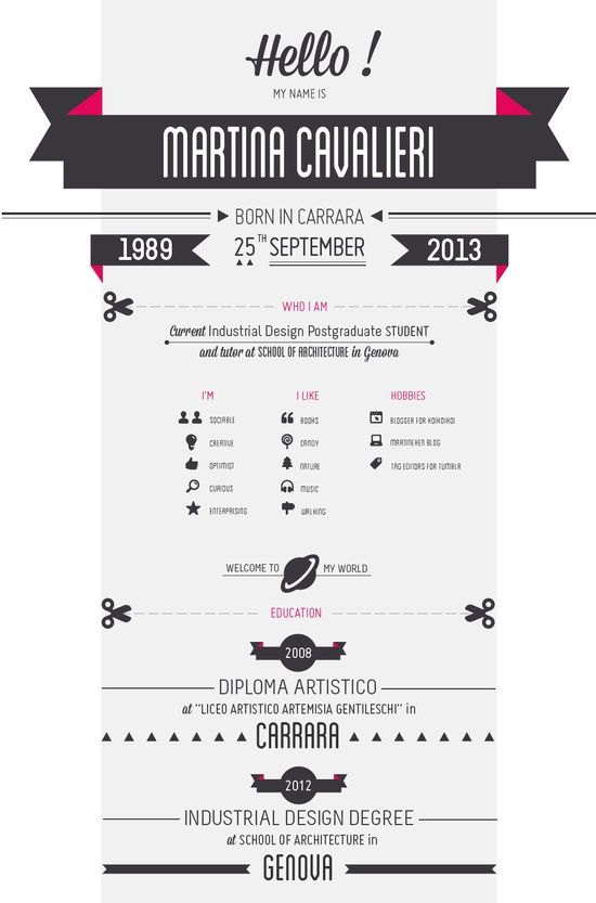 I design infographic resumes like this one - check out my - infographic resumes