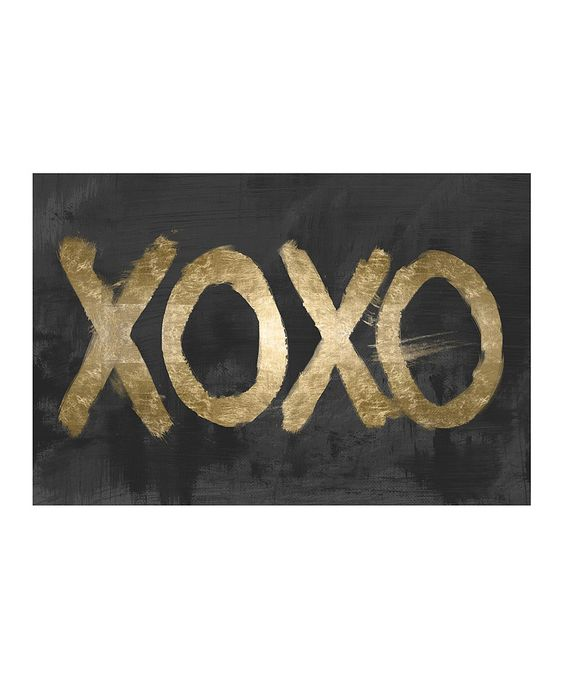 Love this Gold 'XOXO' Print by Oliver Gal on #zulily! #zulilyfinds