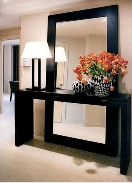 Aparadores com espelho na parede:
