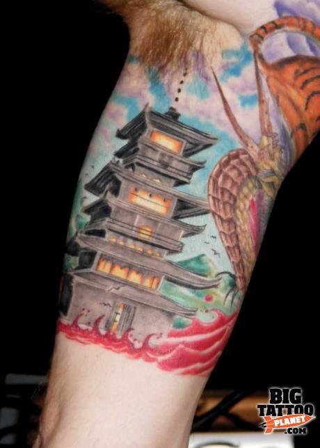 japanese pagoda tattoo designs matt lampi colour tattoo big tattoo planet japanese. Black Bedroom Furniture Sets. Home Design Ideas