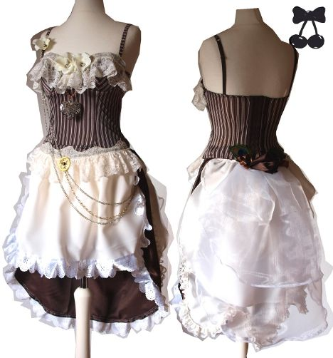 Steampunk burlesque dress