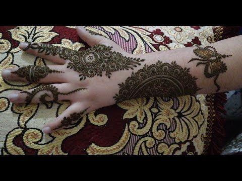اسهل نقشة و جديدة للعروسة او نفيسة نقش مغربي هندي A New And Cute Henna Drawing Youtube Hand Henna Cute Henna Henna Drawings
