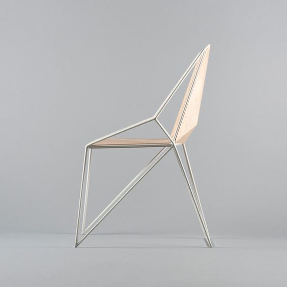 p 11 is a minimalist polygon shaped chair designed by