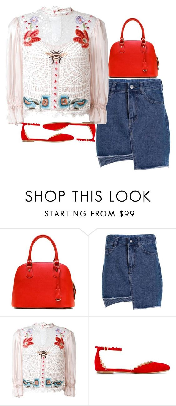 """""""scalleped"""" by solmacias1 ❤ liked on Polyvore featuring Temperley London, Chloé and vintage"""