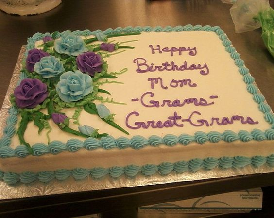 Cakes for Women | ... ) because I just made a 90th birthday cake ...