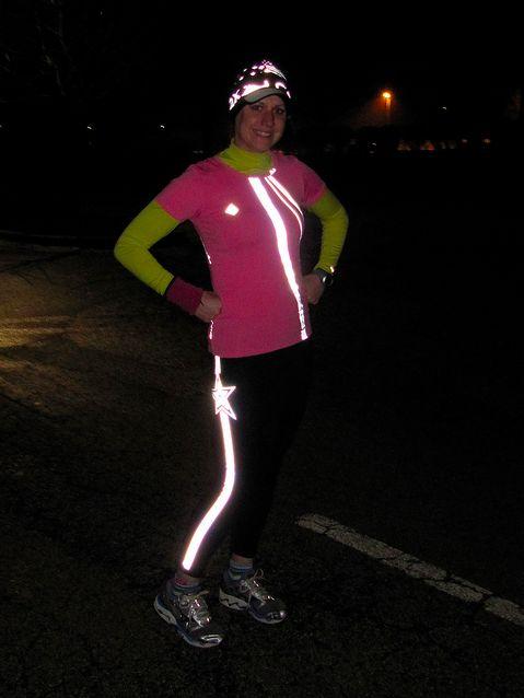 cute reflective running gear - be seen when running at night