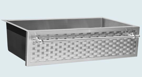 Custom Farm Sink Woven Stainless Apron Stainless Steel Towel Bar