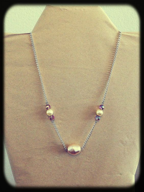 Dainty Pearl and Crystal Necklace by eight30seven on Etsy, $25.00