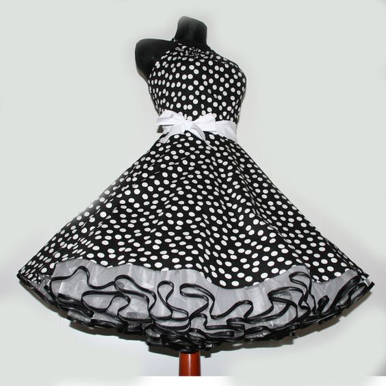 tanzkleid zum petticoat nach ma pink wei 90 pink. Black Bedroom Furniture Sets. Home Design Ideas