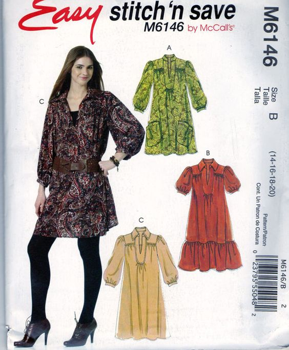 uncut new sewing pattern Misses dress size 14 16 by Oldeshop2012, $5.00
