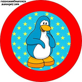 Club Penguin - Kit Completo com molduras para convites, rótulos para guloseimas, lembrancinhas e imagens!