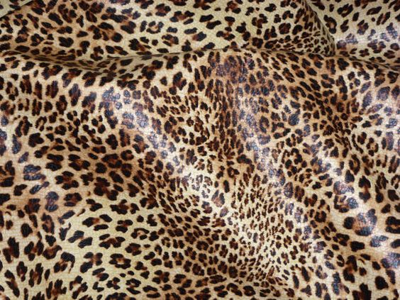 """Leather 12""""x12"""" """"Original"""" SOFT Banana Leopard Print Grain Cowhide (NOT hair on) 2.5-3 oz / 1-1.2 mm PeggySueAlso?"""