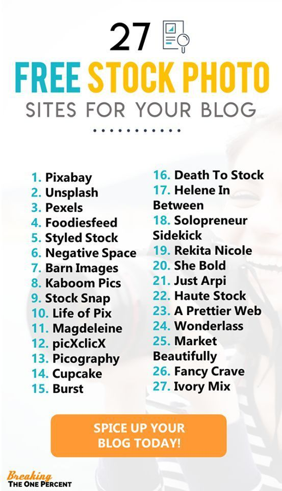 Want AMAZING free stock photos for your blog or business? Need beautiful high resolution stock photos for your website? Here's a super useful list of the 27 BEST places to get free stock photos!