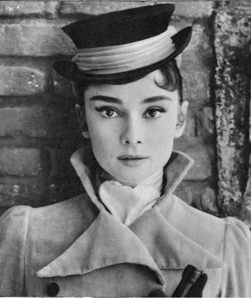 Audrey in a riding cap