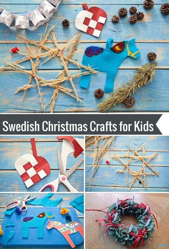 Crafts kid and swedish christmas on pinterest for Scandinavian christmas craft ideas