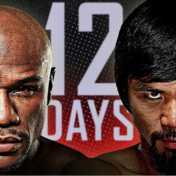 「Another day closer. 12 days away #MayweatherPacquiao @shosports #MayPac Mega Fight #Boxing @floydmayweather @mannypacquiao」