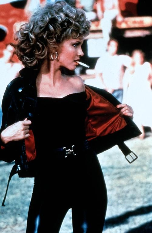 "Olivia Newton-John in ""Grease"" I remember thinking I'd really look like this in high school...Yeah, no idea she was like, 30!"