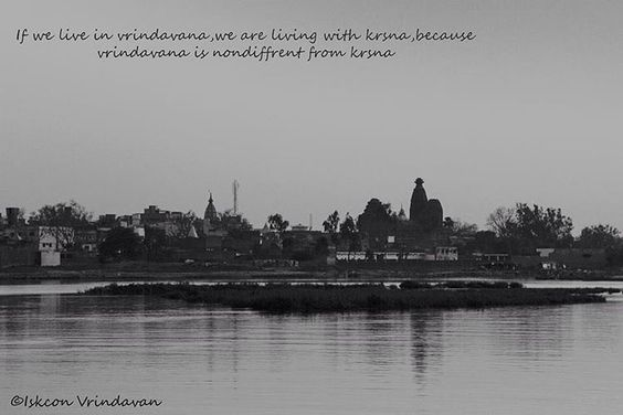"""""""If we live in vrindavan, we are living with krsna, because vrindavan is non-different from krsna.  #vrindavan #vrindavandham #yamuna #river #riverside…"""""""