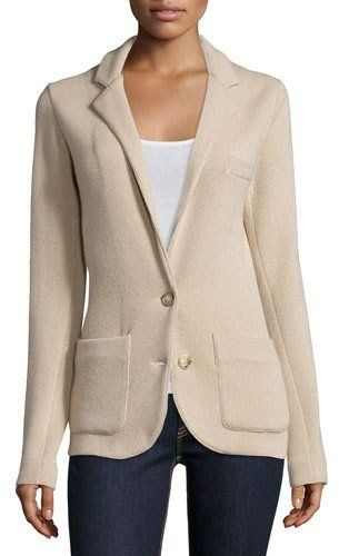 Ralph Lauren Cashmere Two-Button Jacket, Light Tan/Caramel