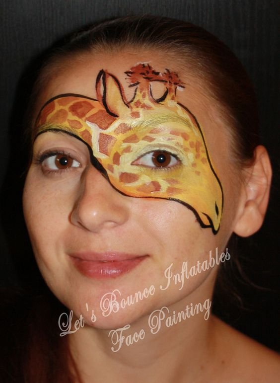 giraffe face painting by let 39 s bounce inflatables vancouver bc kids face painting pinterest. Black Bedroom Furniture Sets. Home Design Ideas