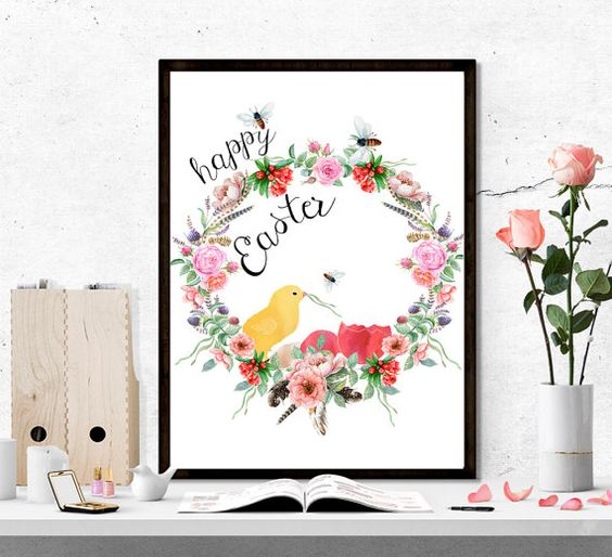 $4 Easter printable beautiful floral printable by SoulPrintables