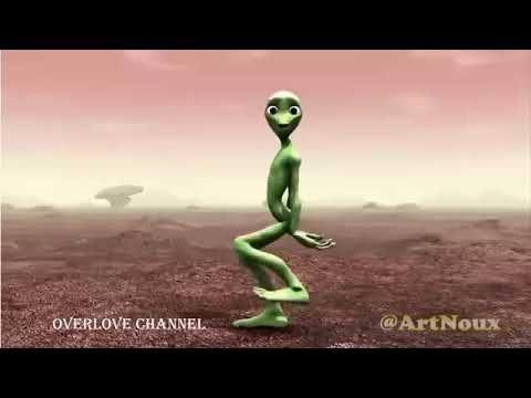 Green Alien Dance Dancing Challenge Youtube Funny Songs Alien Green Man