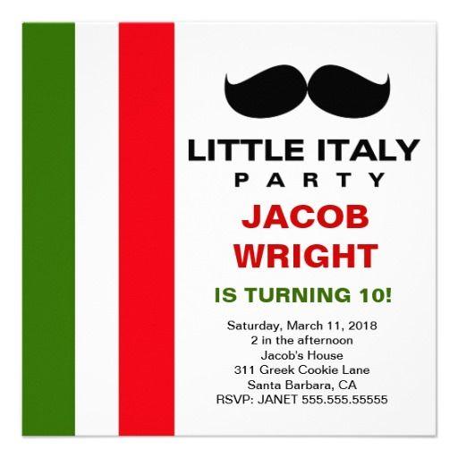 LGC Little Italy Party Kid Party Ideas Pinterest – Italian Themed Party Invitations