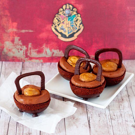 Double Double Chocolate Cauldron Cakes