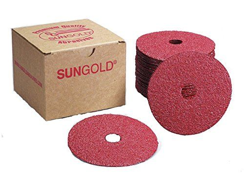 5-Inch x 7//8-Inch Aluminum Oxide Resin Fiber Discs Center Hole 36 Grit 10 Pcs