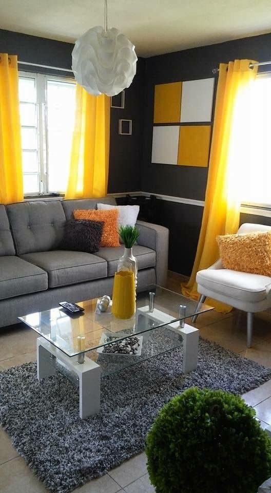 Pin By Sharonda Jones On Your Pinterest Likes In 2020 Yellow Decor Living Room Colourful Living Room Decor Living Room Decor Apartment