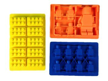Silicone Mold for LEGO lovers - Use for soap making, fondant tools, chocolate molds, hardcandy kit and as an ice cube tray - Make building bricks and mini-figures as party favors and cake toppers - Guaranteed family fun in your kitchen! +*BONUS*
