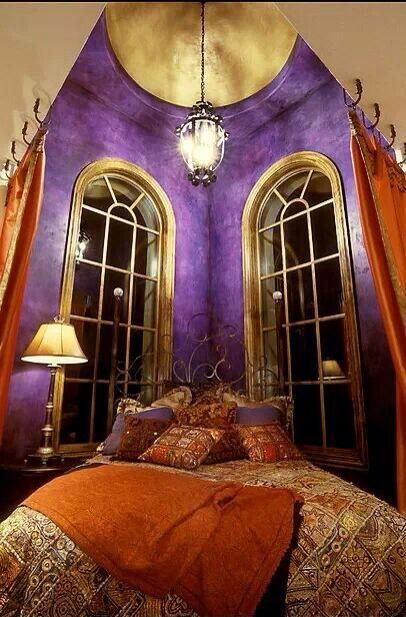 Turn Your Bedroom Into An Arabian Nights Tent Fantasy With A Color Combo Like This Vivid