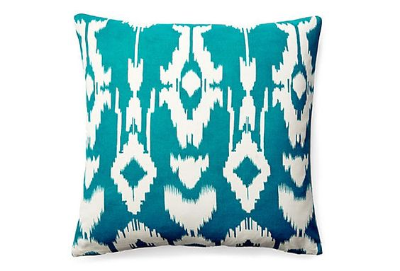 Noir 20x20 Pillow, Teal on OneKingsLane.com