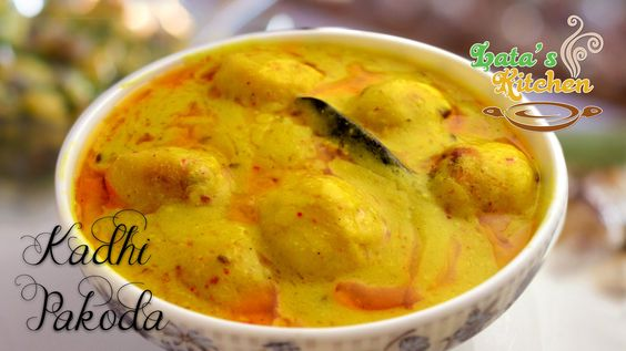 Kadhi Pakora Recipe Video — Punjabi Kadhi Pakoda Recipe by Lata Jain