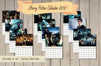 Paper & Party Supplies: 2015 New year Harry Potter Calendar. Monthly . - LoveItSoMuch.com