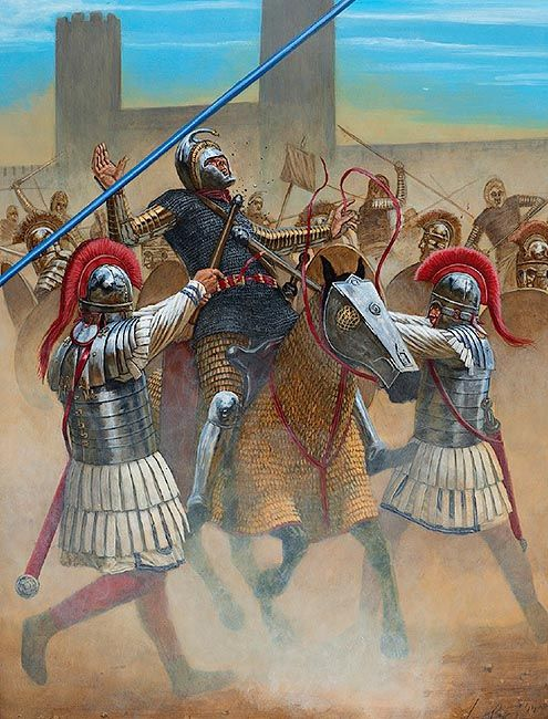 The Battle of Turin, AD 312 | 4th-5th Century Roman Army ...