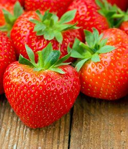 Enjoy a serving of strawberries today to lower cholesterol, decrease free radical damage, prevent stroke risk, and promote anti-aging efforts! #antioxidants #berries #freshfruit #nutrition
