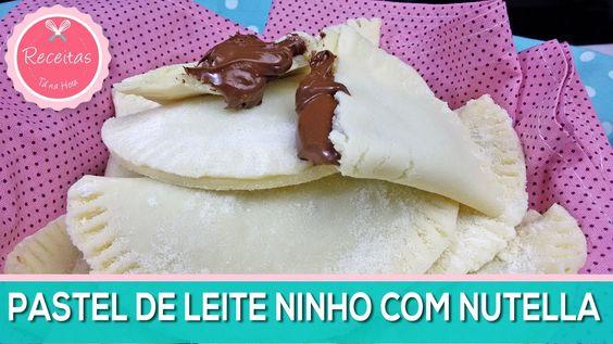 COMO FAZER PASTEL de LEITE NINHO com NUTELLA | Receitas Tá na Hora #28