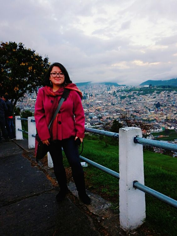 Quito city behind me