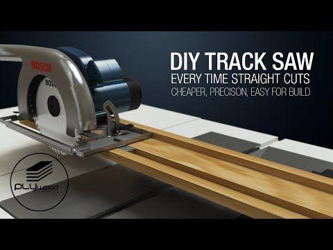 Diy Simple Circular Saw Track Saw Guide Homemade Track Saw Homemadetools In 2020 Circular Saw Track Circular Saw Guide Rail Circular Saw Jig