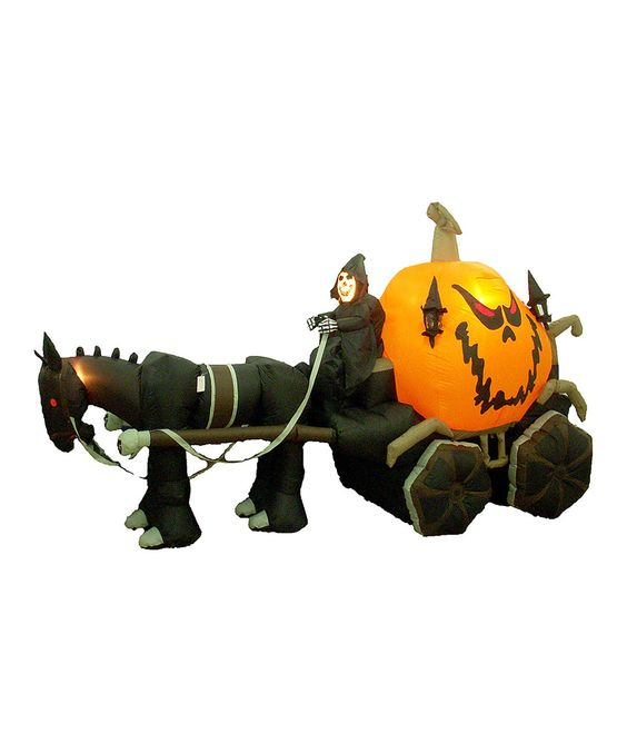 Look what I found on #zulily! Skeleton & Carriage Inflatable Light-Up Lawn Decoration by BZB Goods #zulilyfinds