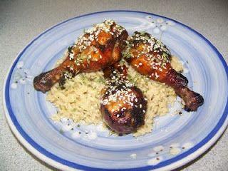 Passion cuisine...    de mère en fille: Pilons de poulet au balsamique