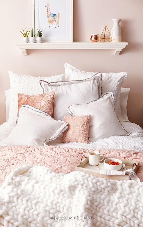 Pin By Doris Machado On H E R Room Pink Bedroom Design Dusty