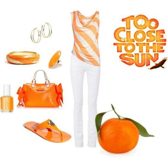 Orange, created by cindy32tn on Polyvore