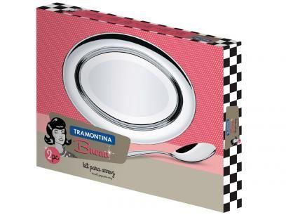 Kit para Arroz em Inox 2 Peças - Tramontina Buena 64700120 com as melhores condições você encontra no Magazine Raimundogarcia. Confira!