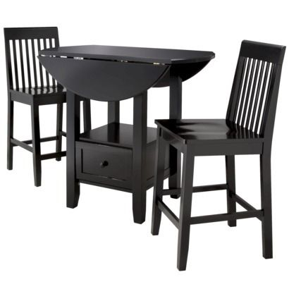 3 piece storage pub set threshold small apartments for Small dining table with storage